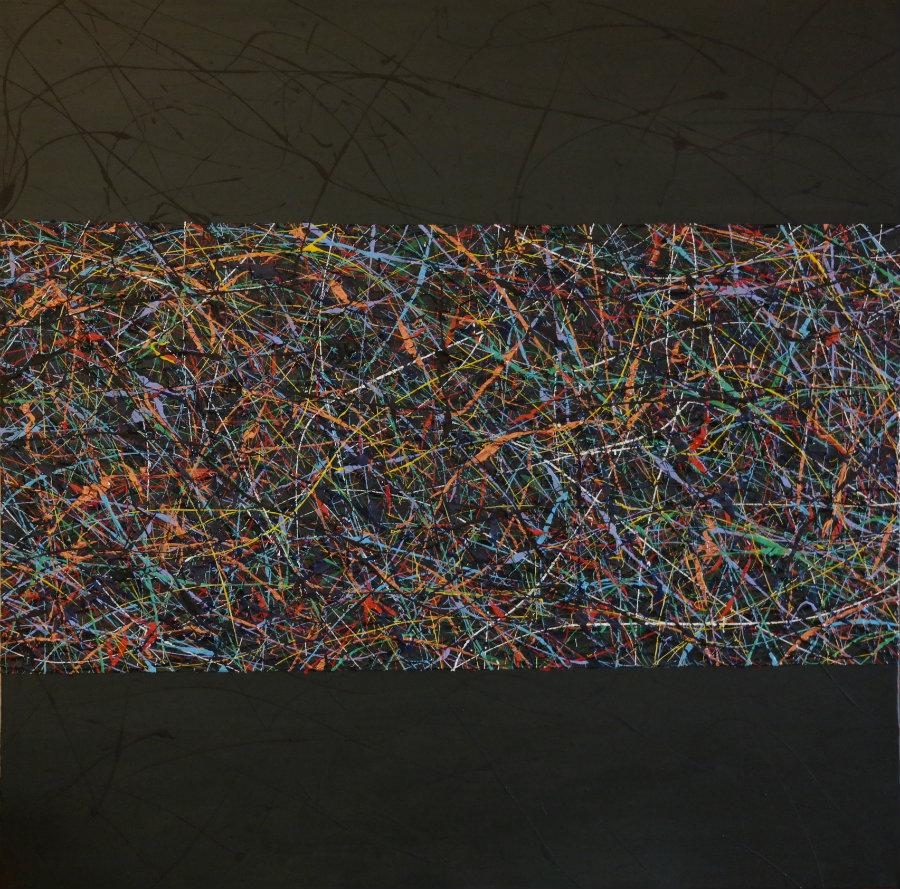 102 | Pensieri 2014 | 80x80 | Acrilico su tela