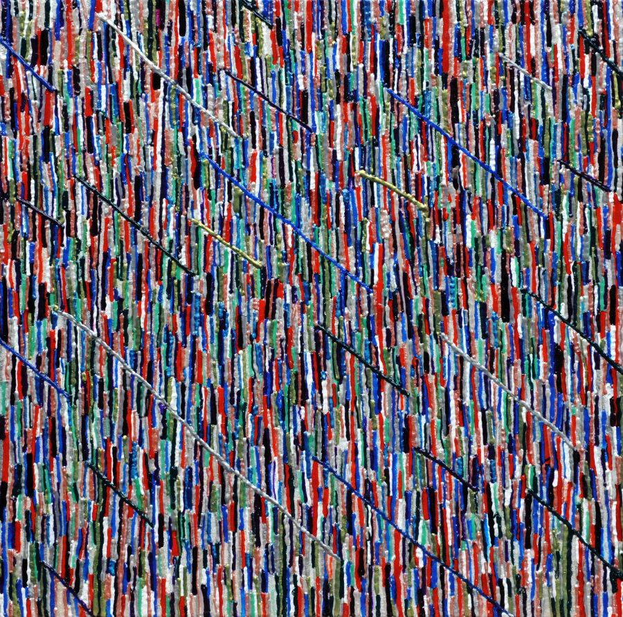 134 | Polifonie 2014 | 60x60 | Acrilico su tela
