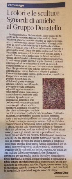 Corriere Fiorentino | 26Aprile 2014 - Mostra_Gruppo_Donatello