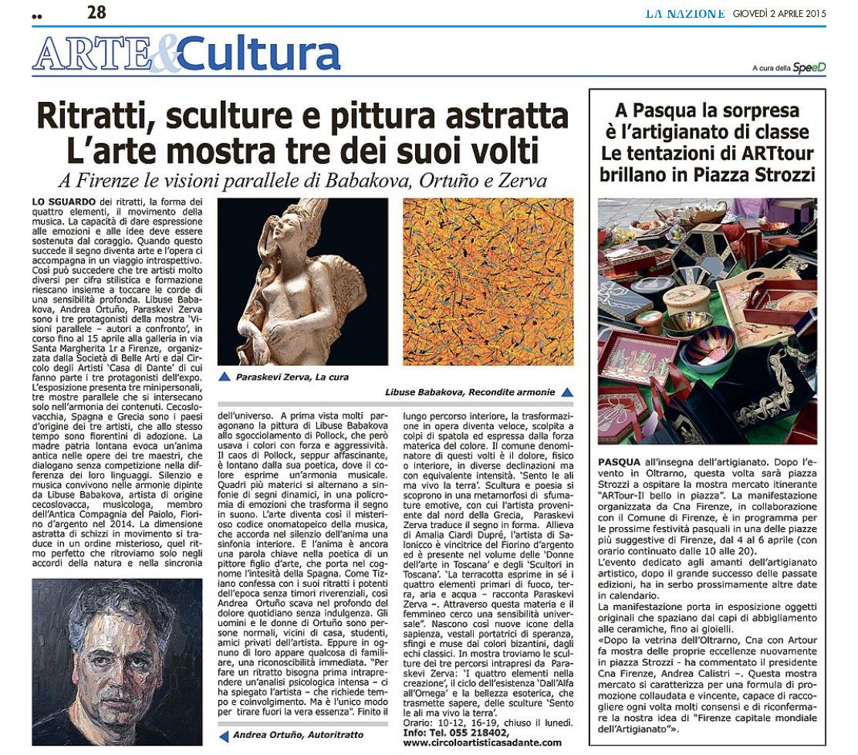 La Nazione - 02/04/2015 - Visioni Parallele