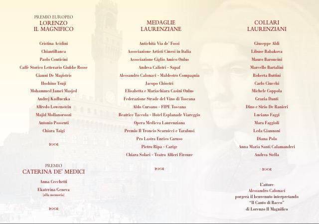 Invito Premio Europeo Lorenzo Il Magnifico
