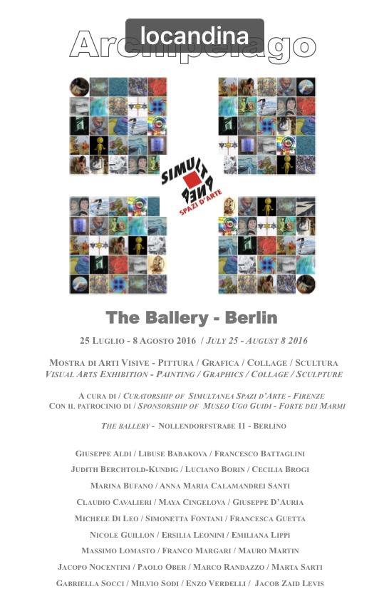 Locandina mostra Berlin luglio/agosto 2016